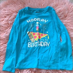 Cat & Jack Birthday pizza shirt